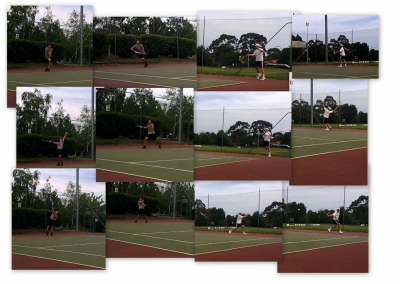 collage of tennis players